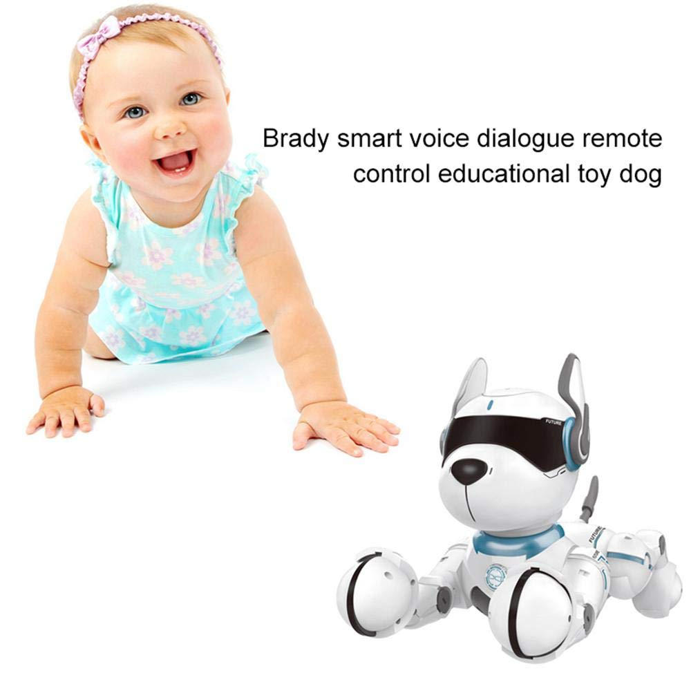 Goglor Smart Talking Robot Dogs, RC Wireless Remote Voice Control Intelligent Toys - Electronic Interactive Pet Puppy Robot Dog for Kids|Educational Sing/Dance/Walk/Study Multi Mode - USB Charging by Goglor (Image #9)