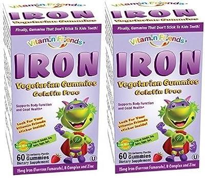 Vitamin Friends Iron Diet Supplement, 60 Count (60x2)