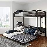 DHP 4299019 Triple Twin Bunk Bed, Black