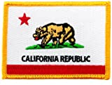 California State Flag Embroidered Patch Iron-On CA Emblem