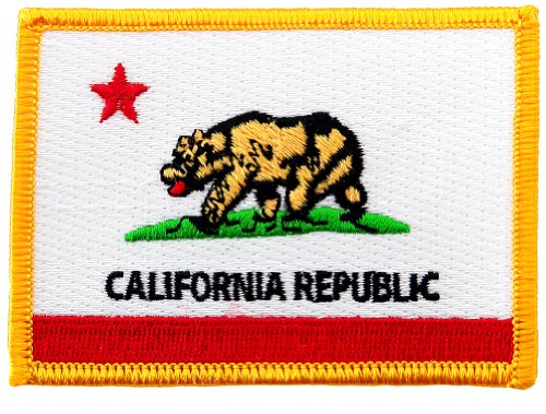 California State Flag Embroidered Patch Iron-On CA ()
