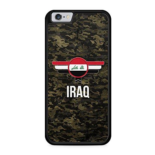 Irak Iraq Camouflage mit Schriftzug - Hülle für iPhone 6 Plus & 6s Plus SILIKON Handyhülle Case Cover Schutzhülle - Bedruckte Flagge Flag Military Militär