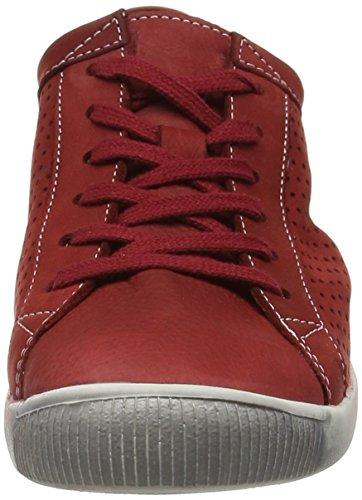 Softinos Damen Ica388sof Sneaker Rot