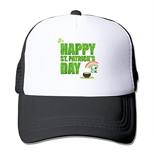 Happy St. Patrick's Day Mesh Caps,Unisex Trucker Hats,Adjustable Baseball Cap Hats