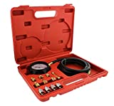 ABN Engine Oil Pressure and Transmission Fluid Diagnostic Tester Tool Kit - 500 PSI / 35 Bar Gauge, Hose, and Adapters