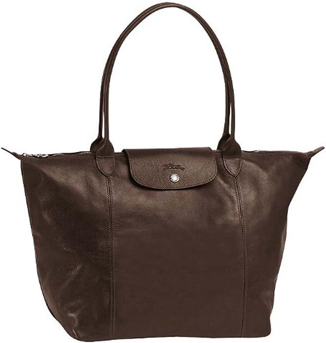 Longchamp Le Pliage Cuir Shopping Tote Taupe ... - Amazon.com