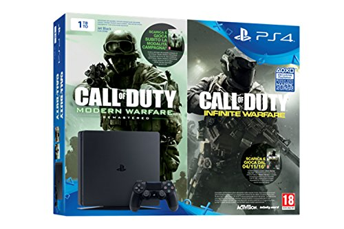 Playstation 4 1 TB D Chassis Slim + Call Of Duty: Infinite Warfare Legacy Edition [Bundle] [Importación Italiana]