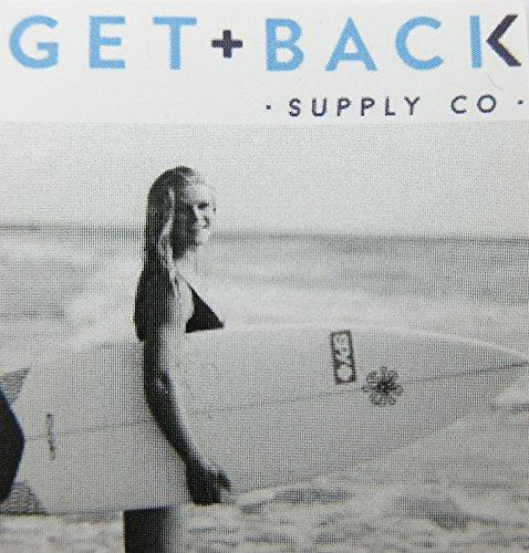 Mini St Christopher Surf Medal Pendant Necklace,Aquamarine/Black AQ/BK by Get Back Supply Co (Image #2)