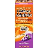 Children's Motrin Oral Suspension, Pain Relief, Ibuprofen, Grape Flavored, 4 Oz