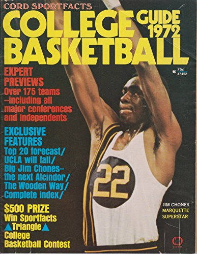 1972 Cord Sportfacts College Basketball Guide Jim Chones