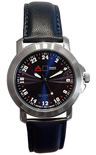 Military Time 24MBLUL3 Forté Mens Army Veterans Wrist Watch with Real 24 Hour Movement - 24