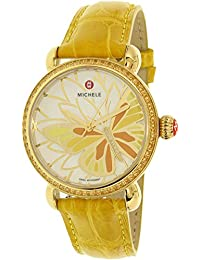 Michele Women's Garden Party MWW05D000015 Yellow Alligator Leather Swiss Quartz Fashion Watch