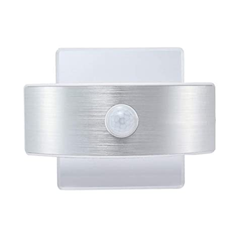 GOL Sensor de movimiento Lámpara de pared Cabecera Lámpara, 14 LED 2w Blanco frío Aplique