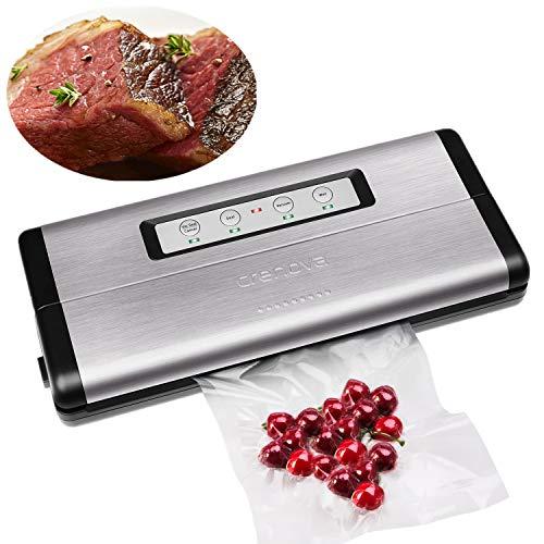 - Crenova VS100S Vacuum Sealer Food Sealer Saver Machine + 1 Vacuum Roll + 10 pcs Vacuum Bags
