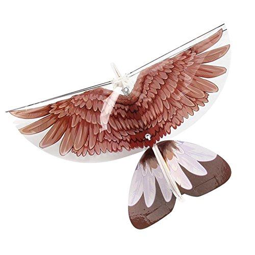 K-outdoor ラジコン 鳥型 電動鳥 フライングバード 紙飛行機 DIY 折りたたみ 子供 おもちゃ 遊ぶ プレゼント イーグル