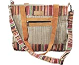 Mato Boho Crossbody Shoulder Hemp Tote Bag Bohemian Shopping Handbag Tribal Aztec Baja Pattern