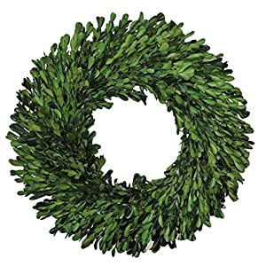 "Preserved Garden Boxwood Wreath 14"" 12"
