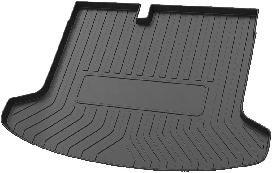 Cqlights Kicks Cargo Liner for Nissan Kicks 2018 2019 2020 Trunk Liner Tray Heavy Duty Rubber Rear Cargo Area Mat Waterproof Protector Floor Mat Black