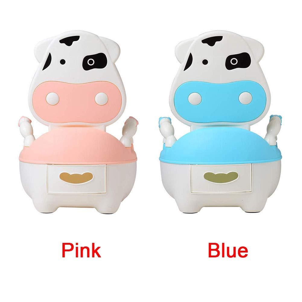 T/öpfchen Tragbar B/ürste Karton Schublade Baby Kissen Toiletten Training Pan Sitz Molkerei Rinder Rosa Pink
