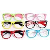 6PCS Kids Candy Colour Cute Glasses Frame Without Lenses Nerdy Retro Glasses