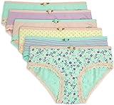 Lucky & Me Ava Little Girls Bikini Underwear, 6 Pack, Tagless, Soft Cotton, Print, 7/8