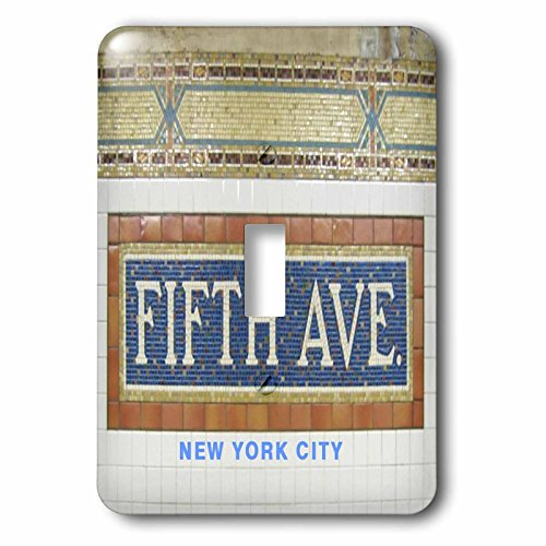 5th Avenue 1 Light - 3dRose New York - Image of Fifth Avenue Subway Sign In New York - Light Switch Covers - single toggle switch (lsp_274947_1)