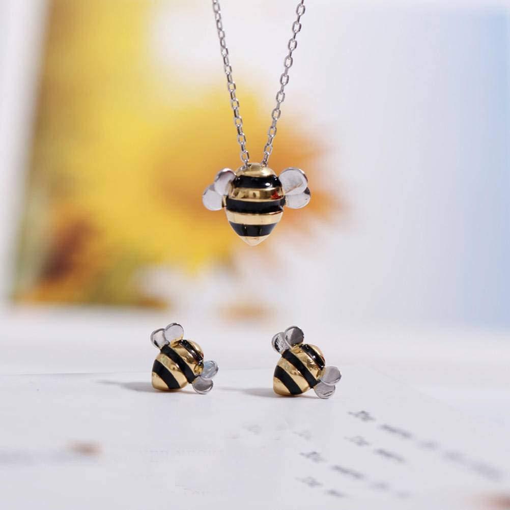 Bee And Fox – Süße Biene Halskette und Ohrringe Bild