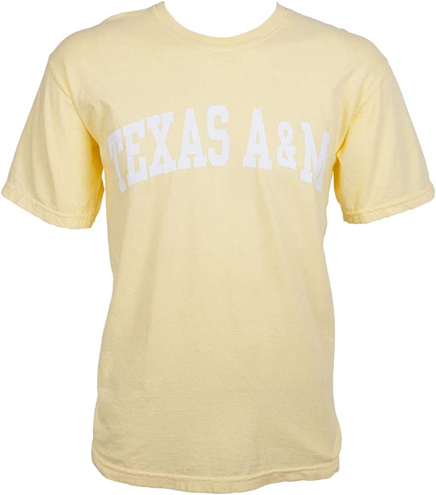 Texas A/&M Aggies Arch Banana Short Sleeve Comfort Colors T-Shirt