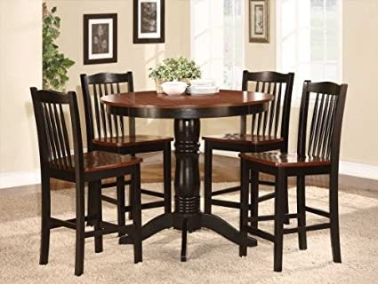 Image Unavailable. not available for. Color: Andover 5 PC Counter Height Dining Table Set Amazon.com - by