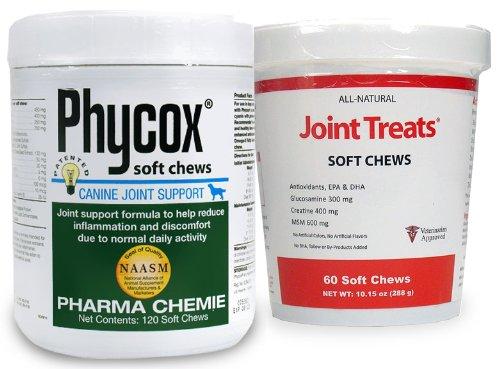 PhyCox Soft Chews (120 Soft Chews) + Free Joint Treats by Phycox-Js