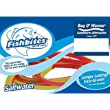 Fishbites 0113 Bag O'Worms Saltwater Sandworm Alternative, 2-Pack, Red and Green