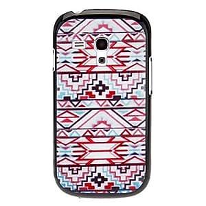 HC- Tejido Diseño Caso duro del patrón Red para Samsung Galaxy I8190