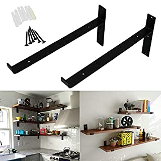 12 Black Iron Shelf Bracket