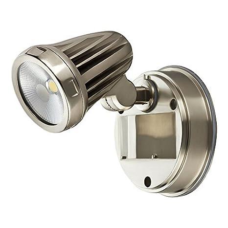 13 Watt LED Außenstrahler - WARMWEISS - Flutlicht Fluter 1-flammig Edelstahl #1230 Greenline