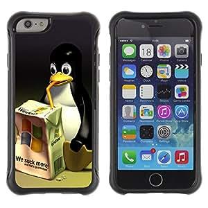 ZAKO Cases / Apple Iphone 6 PLUS 5.5 / Funny Linux Windows Penguin / Robusto Prueba de choques Caso Billetera cubierta Shell Armor Funda Case Cover Slim Armor
