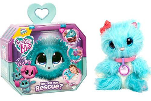 Little Live Pets - Blue Scruff-a-Luv - Bathe Them, Dry Them, Brush Them and Love Them, You Will Discover What Kind of Pet They Really -