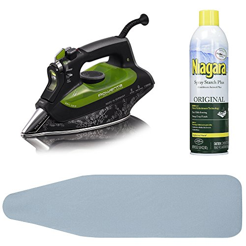 Rowenta DW6080 Eco Intelligence Steam Iron + Free Ironing Board and Starch Spray by Rowenta