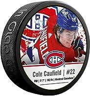 Inglasco Cole Caufield (Montreal Canadiens) Photo Hockey Puck