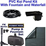 Patriot PVC Beginner Pond Kit 15x15 20 Mil PVC FK950 Fountain and 8'' Waterfall - PVCBK3