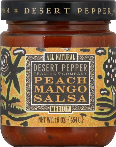 (Desert Pepper Trading Company Mango Peach Salsa, Medium Hot, 16 Ounce)