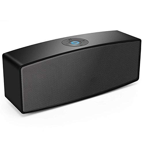Portable Bluetooth Speakers,Dual-Driver Wireless USB Speaker with Surround Stereo Sound and Built-in-mic,for PC Computer Laptop iPhone and Android ... (Black)