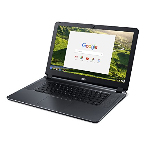 Acer Flagship CB3-532 15.6″ HD Premium Chromebook – Intel Dual-Core Celeron N3060 up to 2.48GH.z, 2GB RAM, 16GB SSD, Wireless AC, HDMI, USB 3.0, Webcam, Chrome OS (Certified Refurbished)