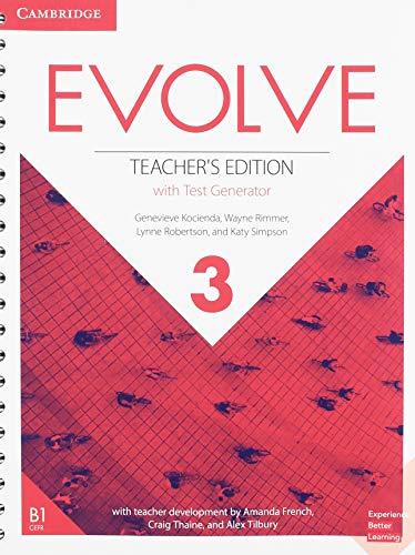 Evolve Level 3 Teacher's Edition with Test Generator (Test Generator)