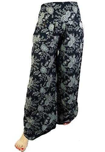 Palazzohose Hosenrock Schlaghose Sommerhose Hippie Goa Hose / lange Hosen