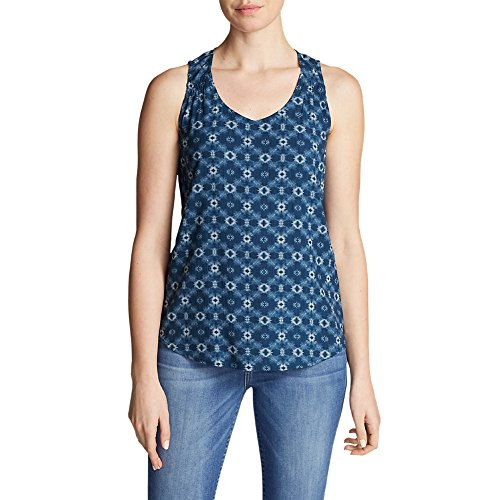 Eddie Bauer Women's Thistle Tank Top - Printed, Steel Blue Tall L