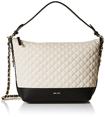 Nine West Elinora Chain Hobo Bag, Milk/Black