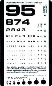 "Pocket Size Plastic Eye Chart, 6 3/8"" x 3 ½"""