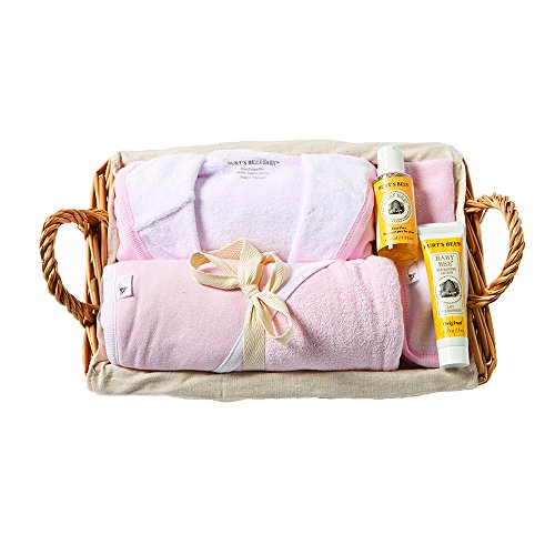 Burt's Bees Baby Better Bathtime Basket - Blossom (Baby Basket Ideas For Baby Girl)