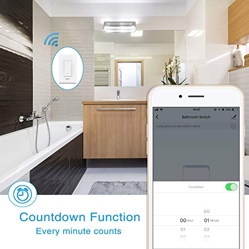 Smart Light Switch Gosund in-Wall Wifi Smart Switch Works with Amazon Alexa Google Home and IFTTT, [Timer/Countdown/Scene] Remote Control, Single-Pole, No Hub Required, Easy Installation (4 pack) by TanTan (Image #7)
