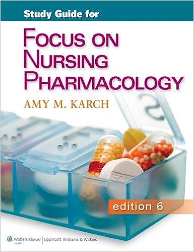 Study Guide for Focus on Nursing Pharmacology: 9781451151664 ...